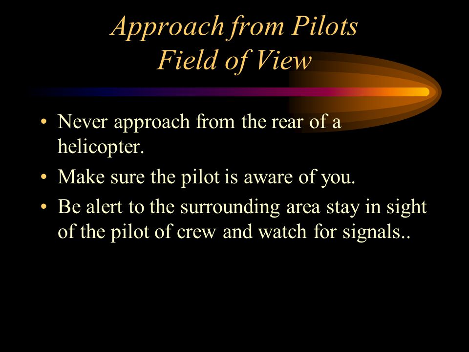 Approach from Pilots Field of View