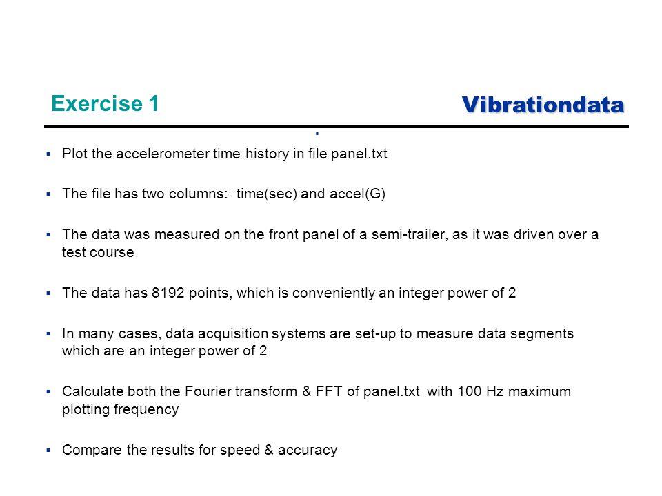 Vibrationdata 1 Unit 7 Fast Fourier Transform (FFT) - ppt download