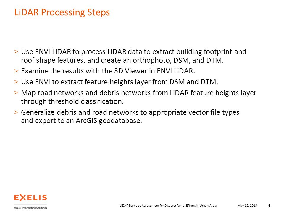LiDAR Damage Assessment for Disaster Relief Efforts in Urban