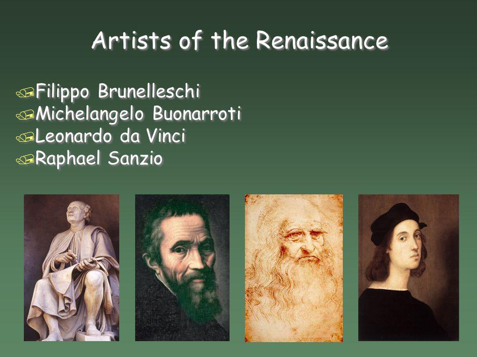 Artists of the Renaissance The European World  Artists of