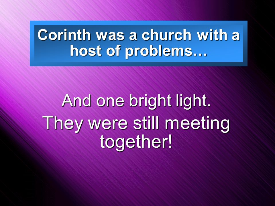what were the problems in the corinthian church