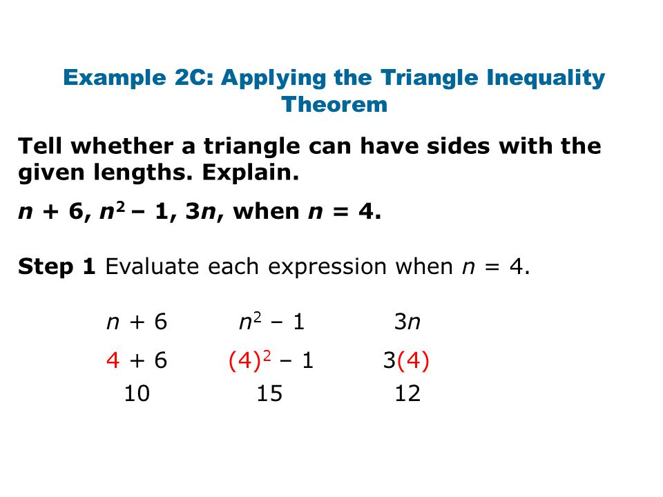 Apply Inequalities In One Triangle Objectives Triangle