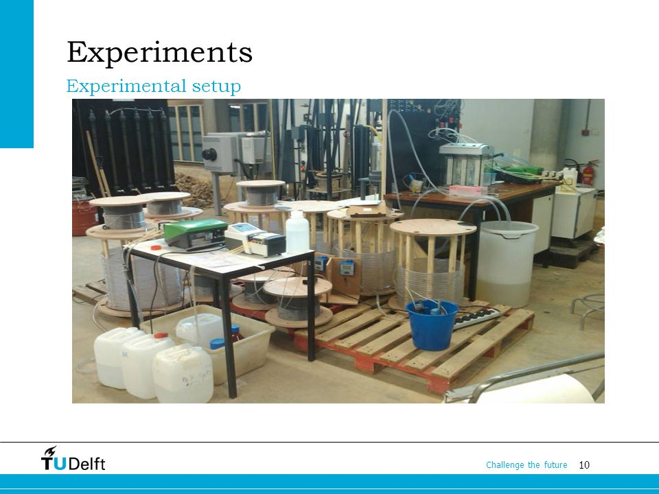 10 Challenge the future Experiments Experimental setup
