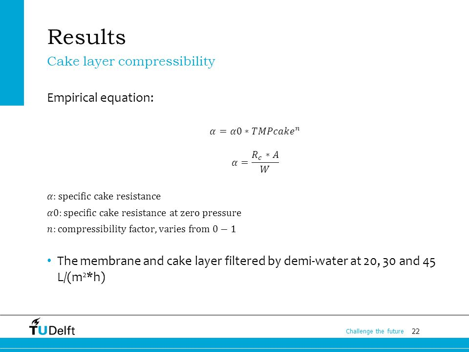 22 Challenge the future Results Cake layer compressibility