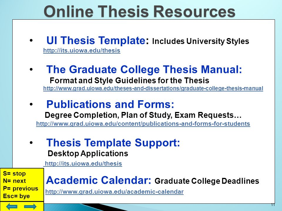 uiowa thesis deadlines