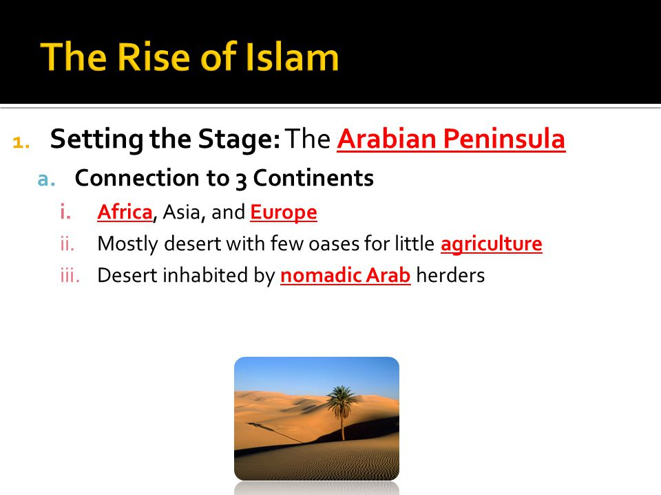 1. Setting the Stage: The Arabian Peninsula a.