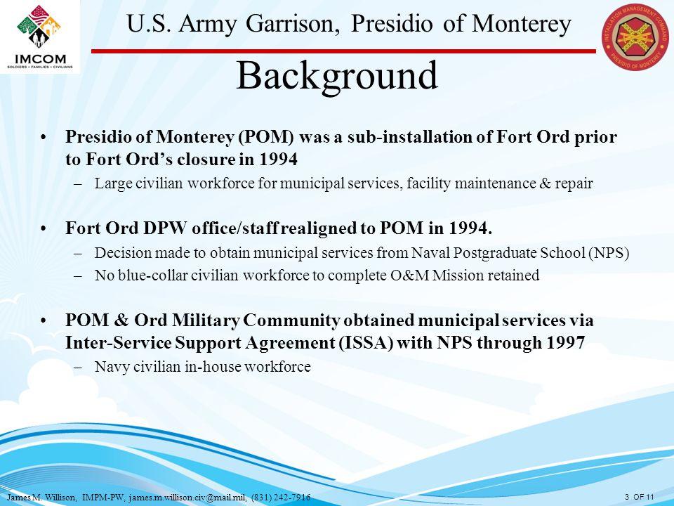 James M Willison Impm Pw 831 Us Army Garrison Presidio Of