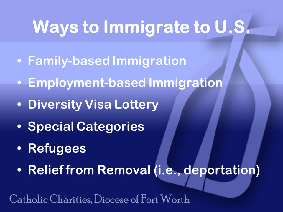 Ways to Immigrate to U.S.