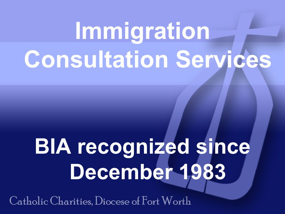 Immigration Consultation Services BIA recognized since December 1983