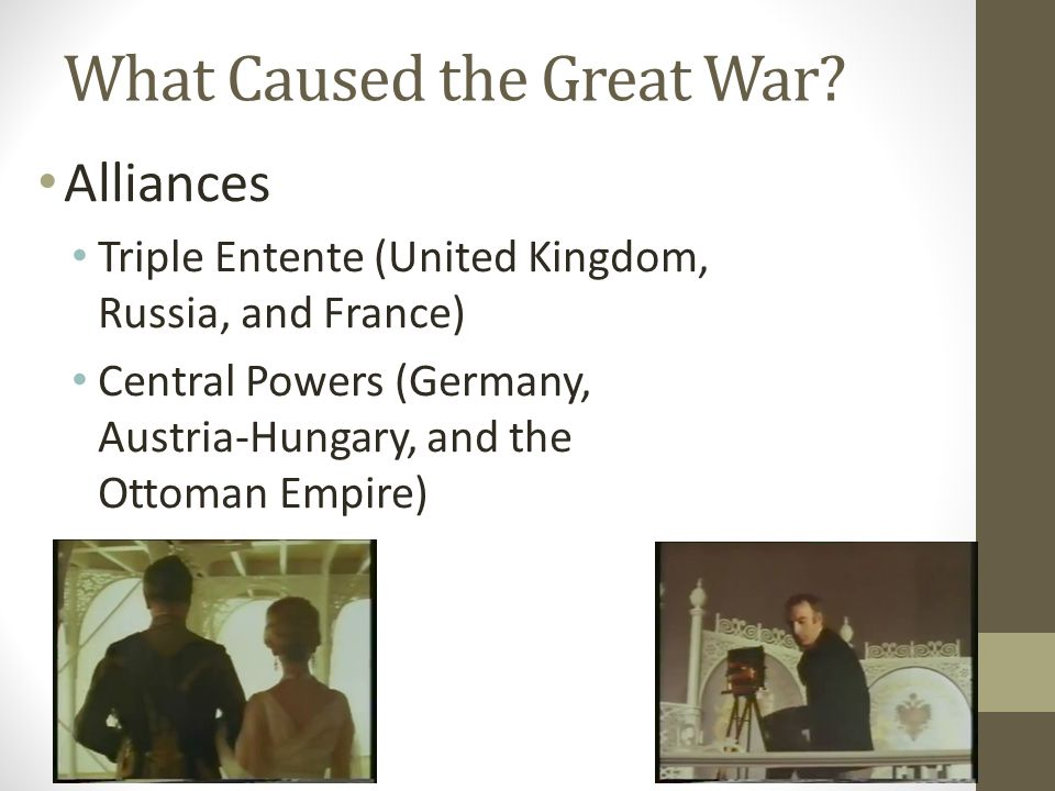 What Caused the Great War.