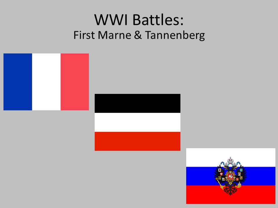 WWI Battles: First Marne & Tannenberg  Thesis Following