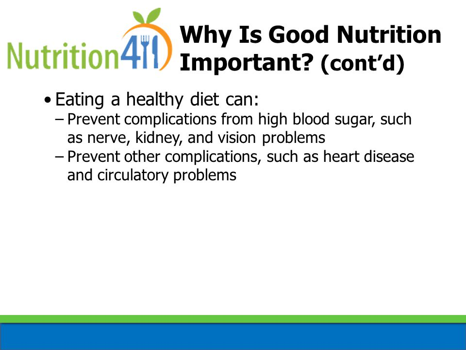 Why Is Good Nutrition Important.