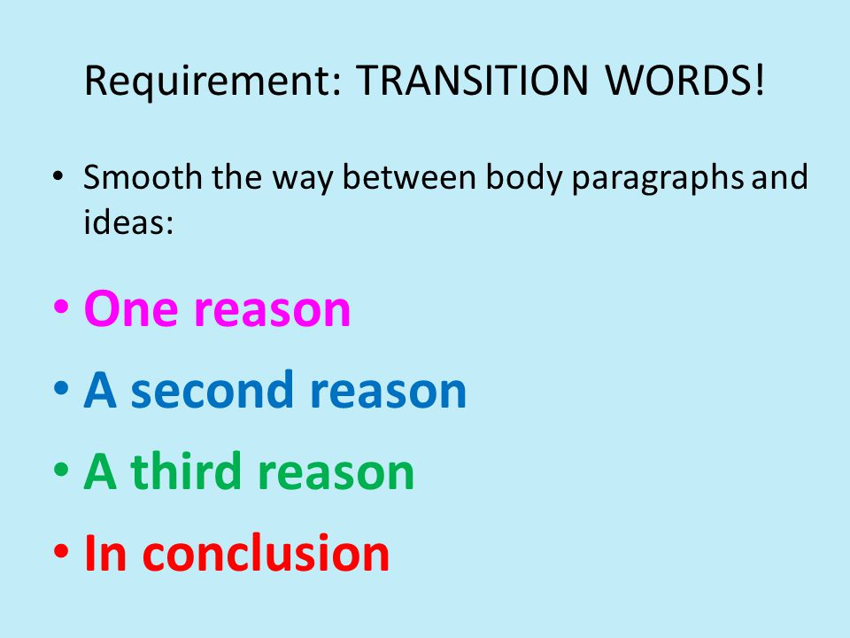 third paragraph transition words