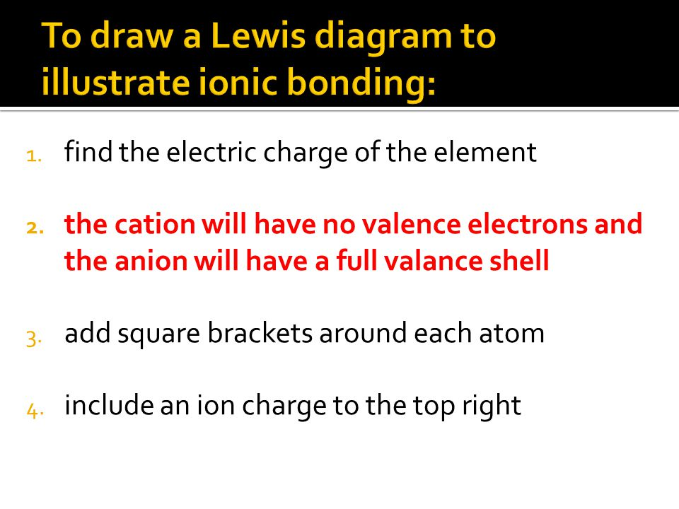 1. find the electric charge of the element 2.