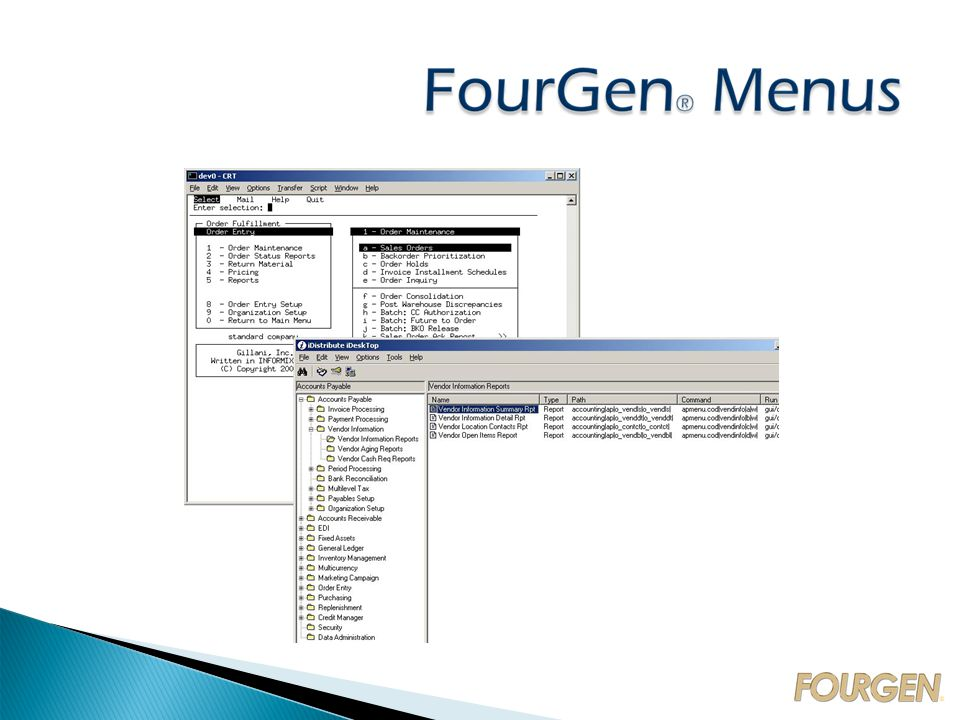 FourGen ® CASE Tools   Form Painter  Screen Code