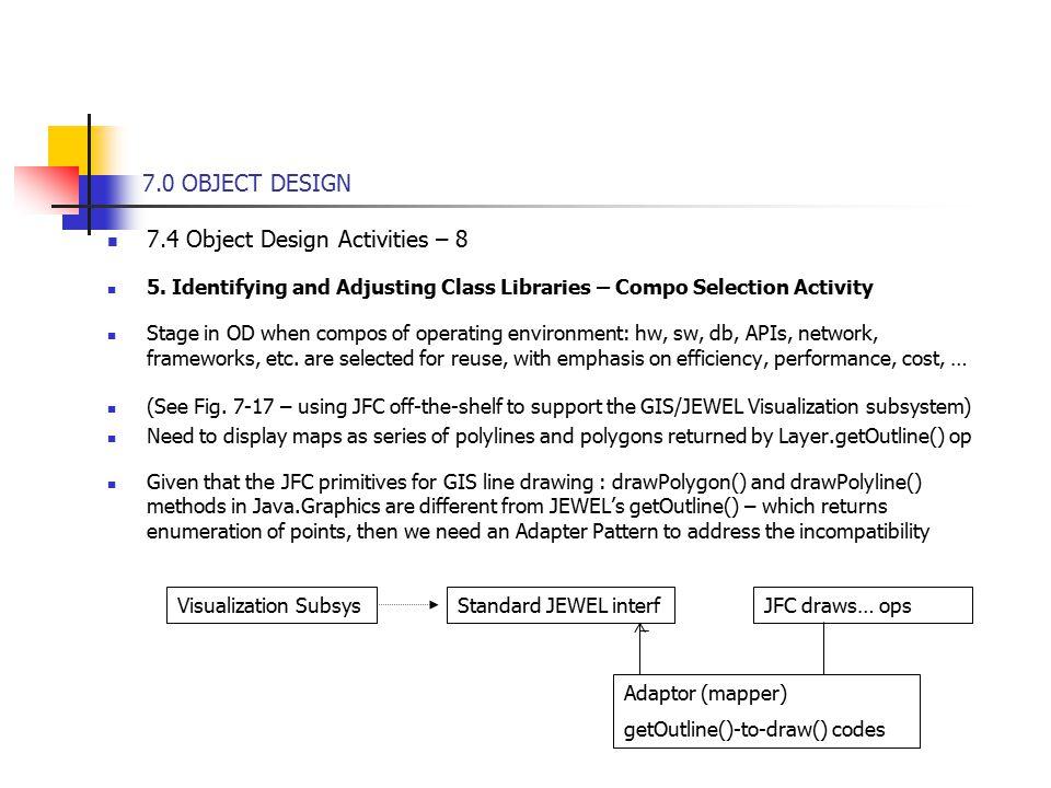7 0 object design 7 4 object design activities 8 5
