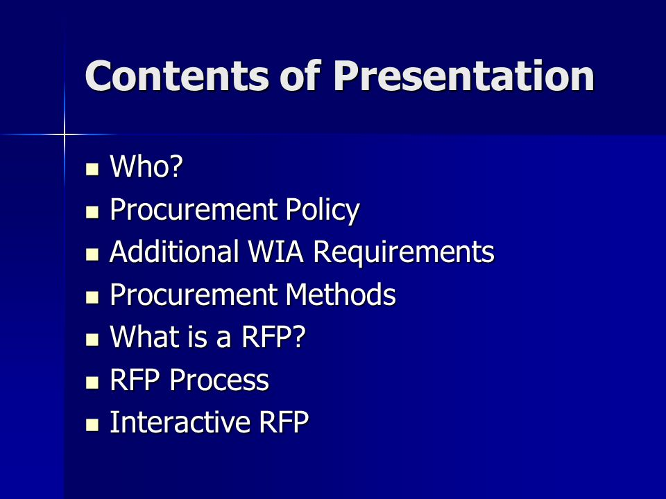 Contents of Presentation Who. Who.