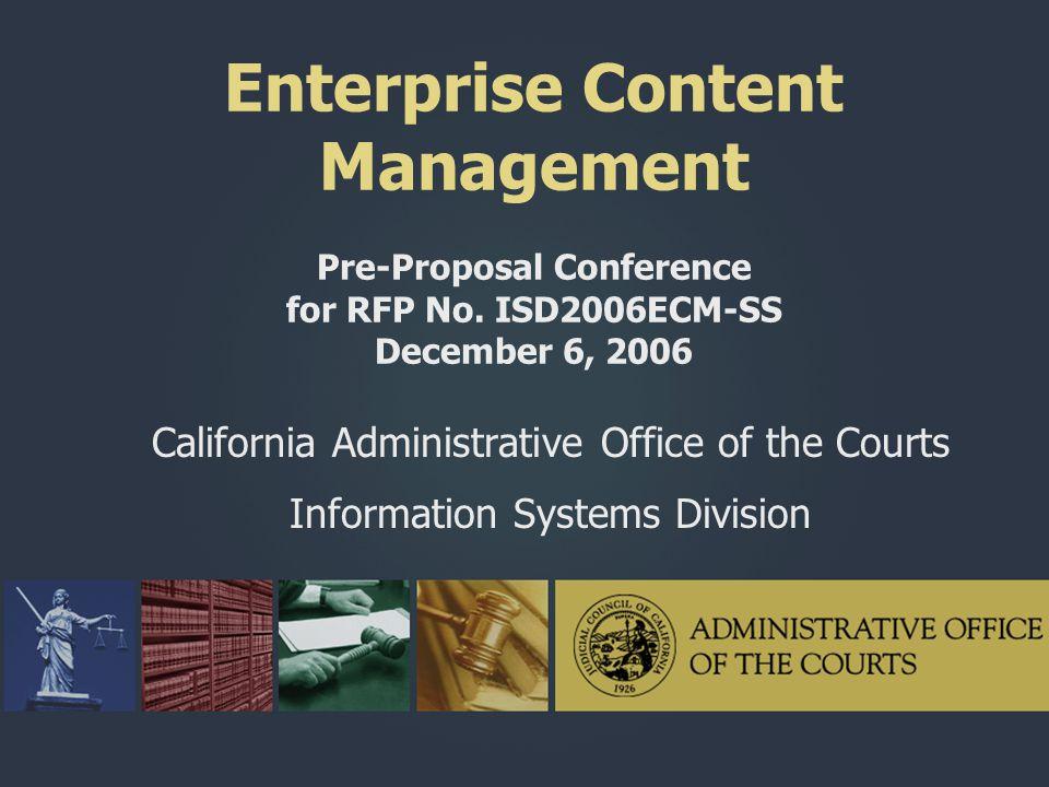 Enterprise Content Management Pre-Proposal Conference for RFP No
