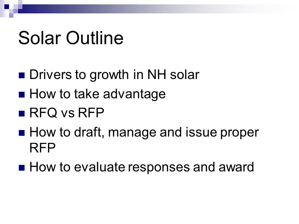 Renewable and Energy Efficiency Projects RFP to