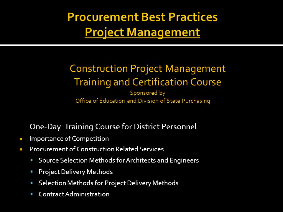 Architectengineer Selection Process Contractor Selection Process
