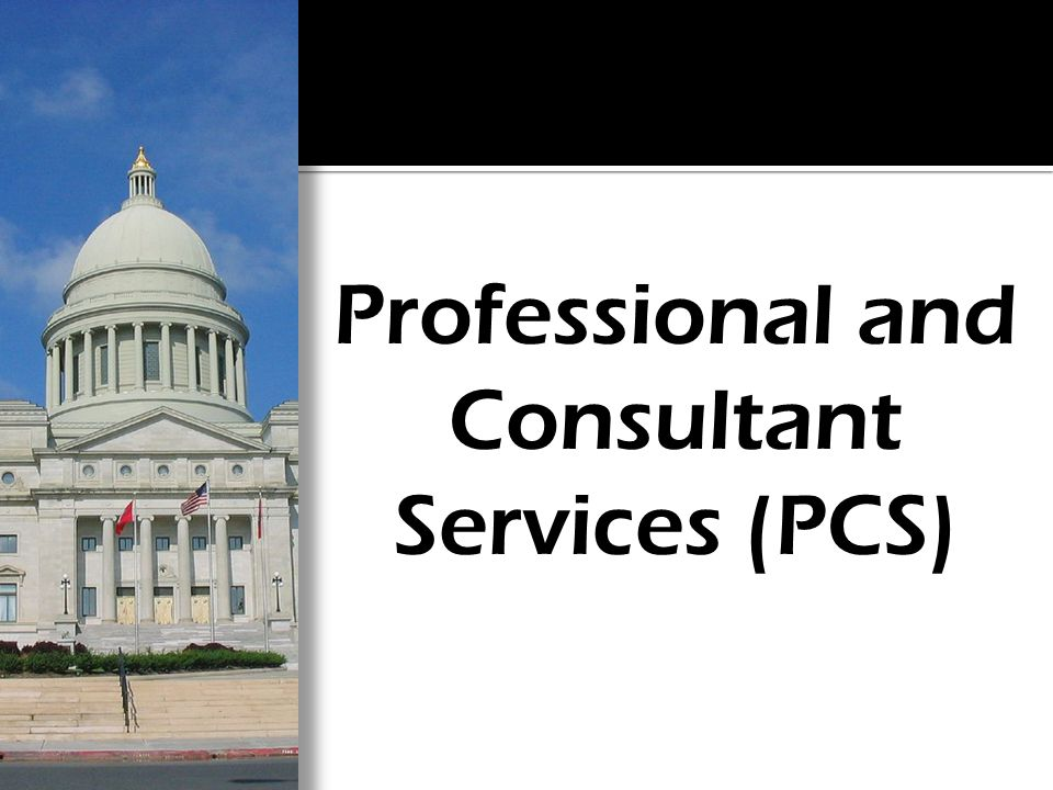 Professional and Consultant Services (PCS)
