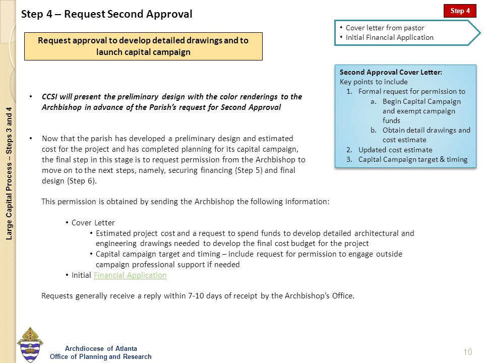 Large Capital Process – Steps 3 and 4 Archdiocese of Atlanta Office ...