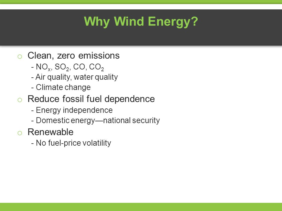 Why Wind Energy.