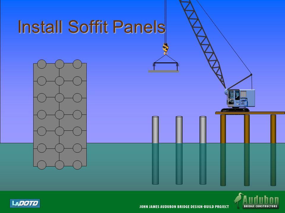 Footing Cofferdam Structure Piles and trestle are installed