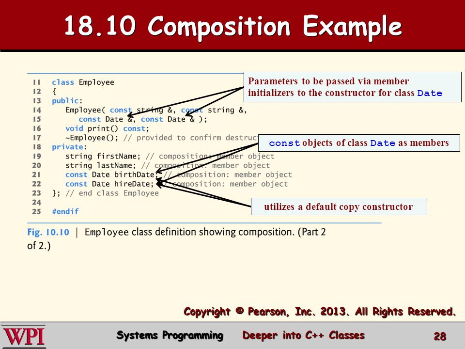 18.10 Composition Example Copyright © Pearson, Inc.