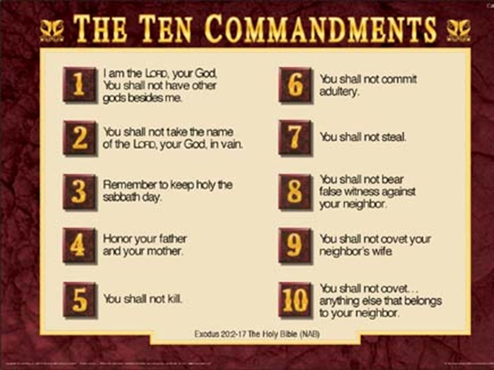 THE TEN COMMANDMENTS Yesterday and Today - ppt video online