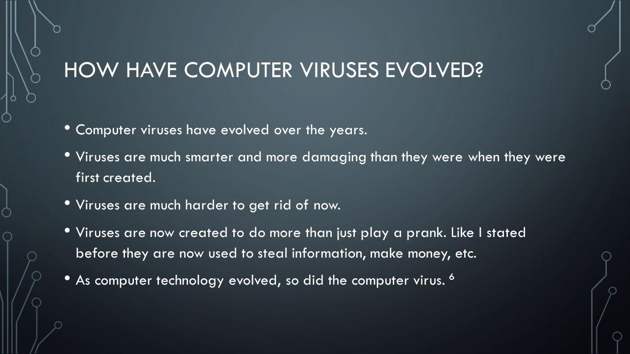 How computer viruses evolved