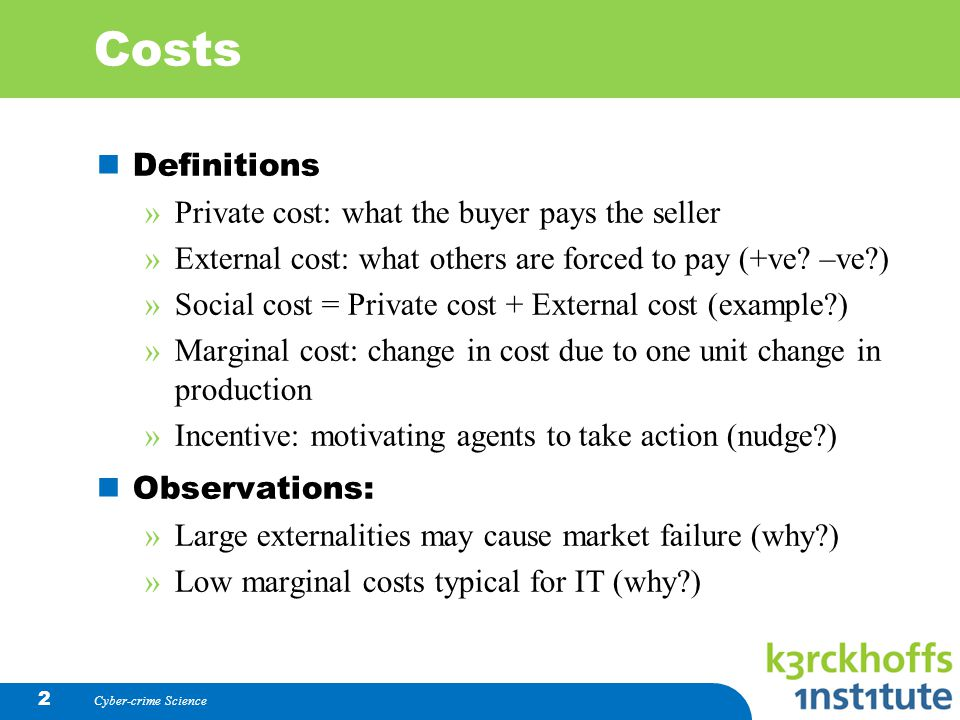 what is private cost in economics