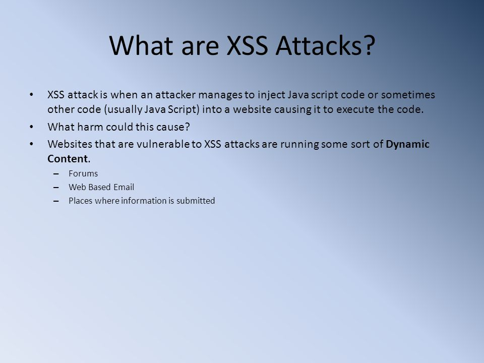 What are XSS Attacks.