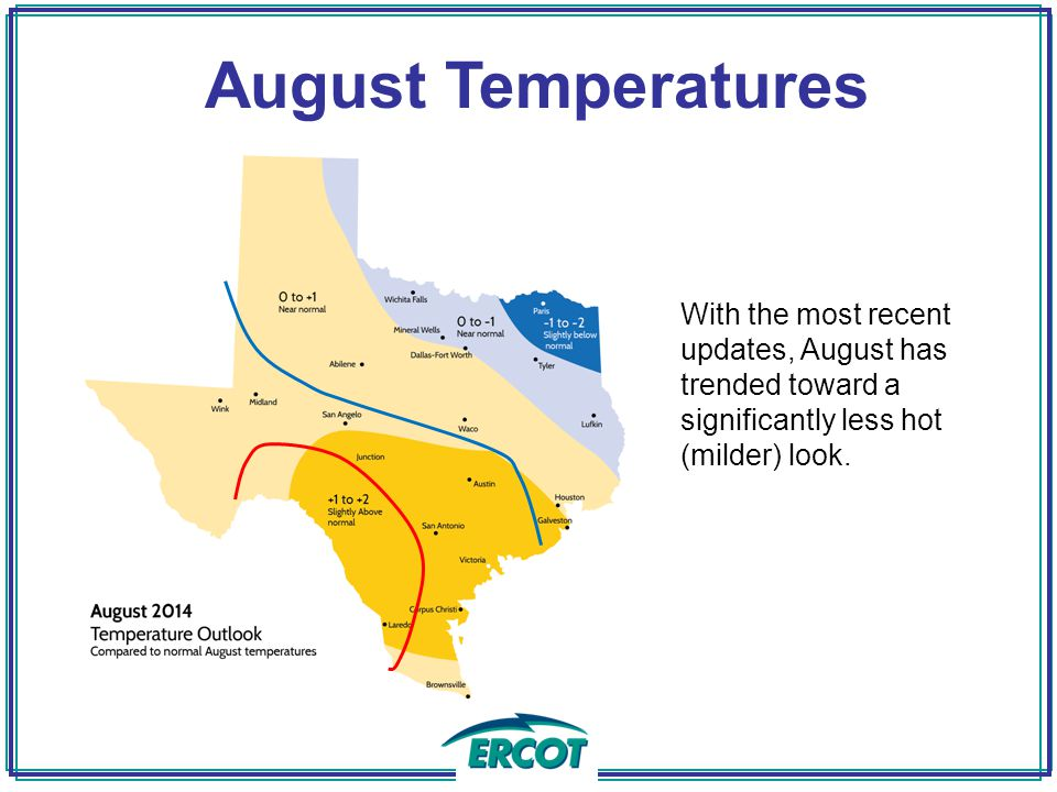 With the most recent updates, August has trended toward a significantly less hot (milder) look.