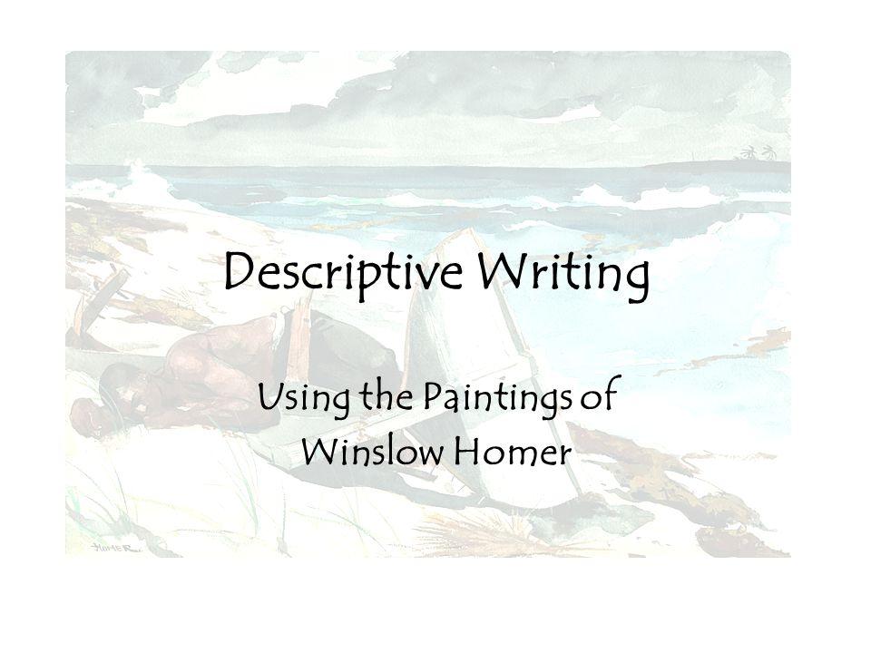 descriptive paragraph of a painting