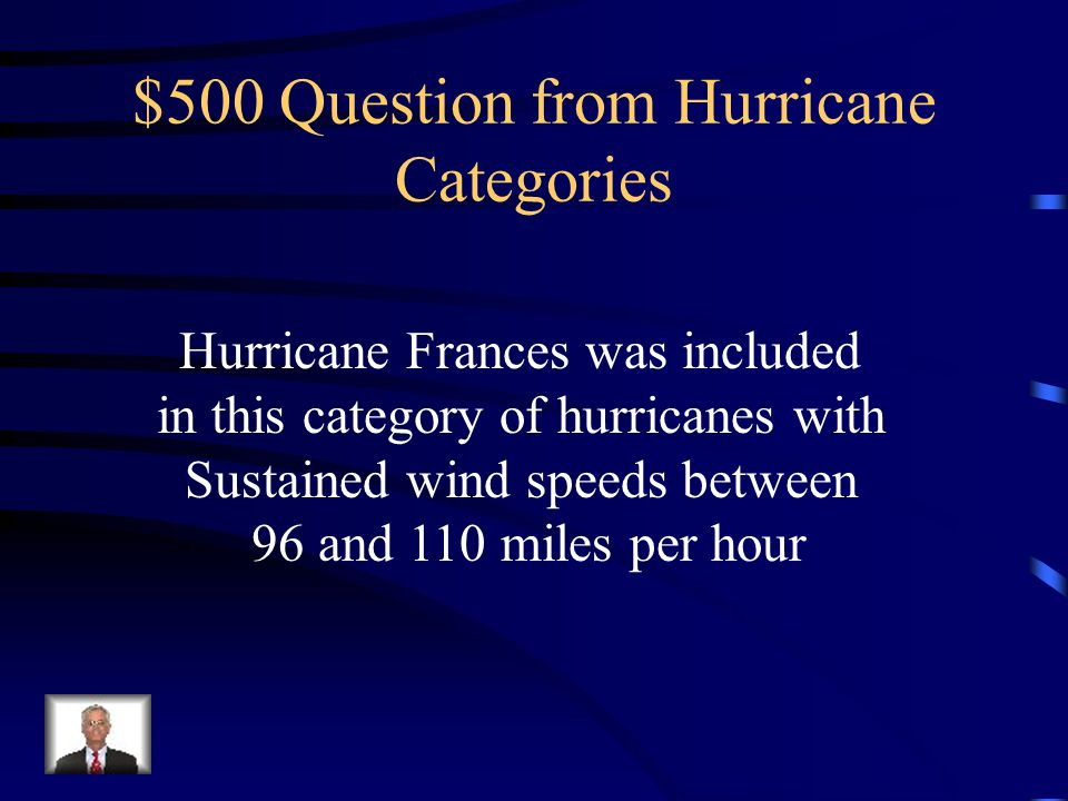 $400 Answer from Hurricane Categories What is Category 4