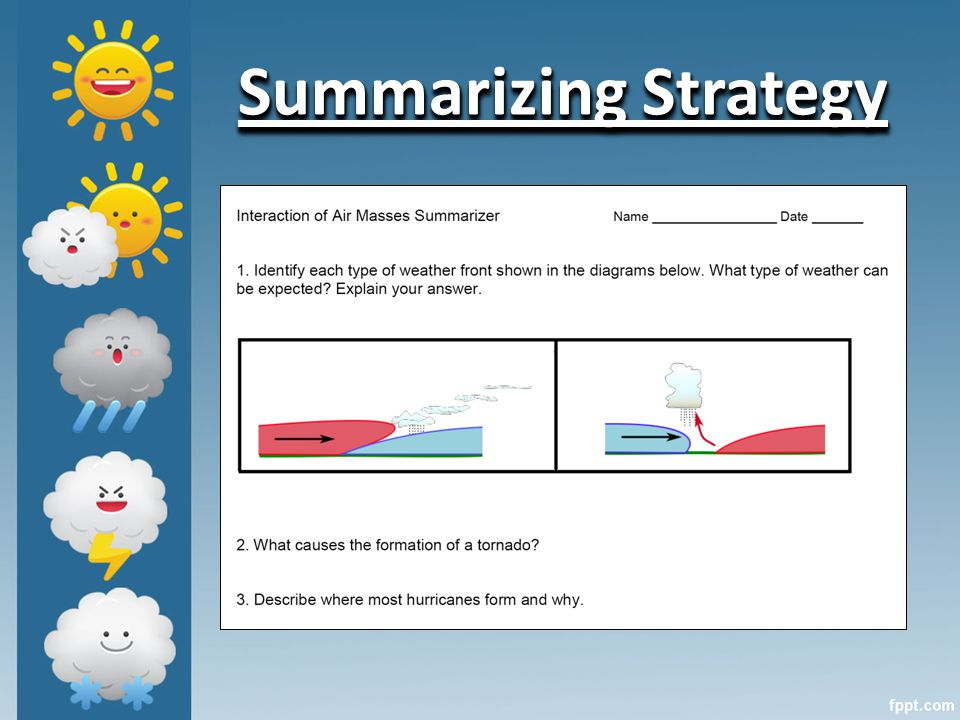 Summarizing Strategy