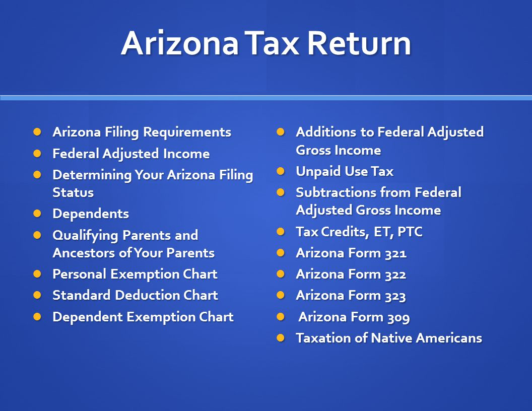 Arizona State Tax Return 2012 Gina Kritchevsky 11/13/ ppt