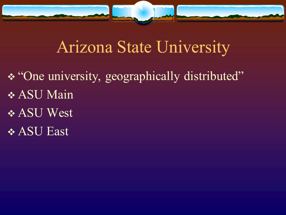 Arizona State University Your Name