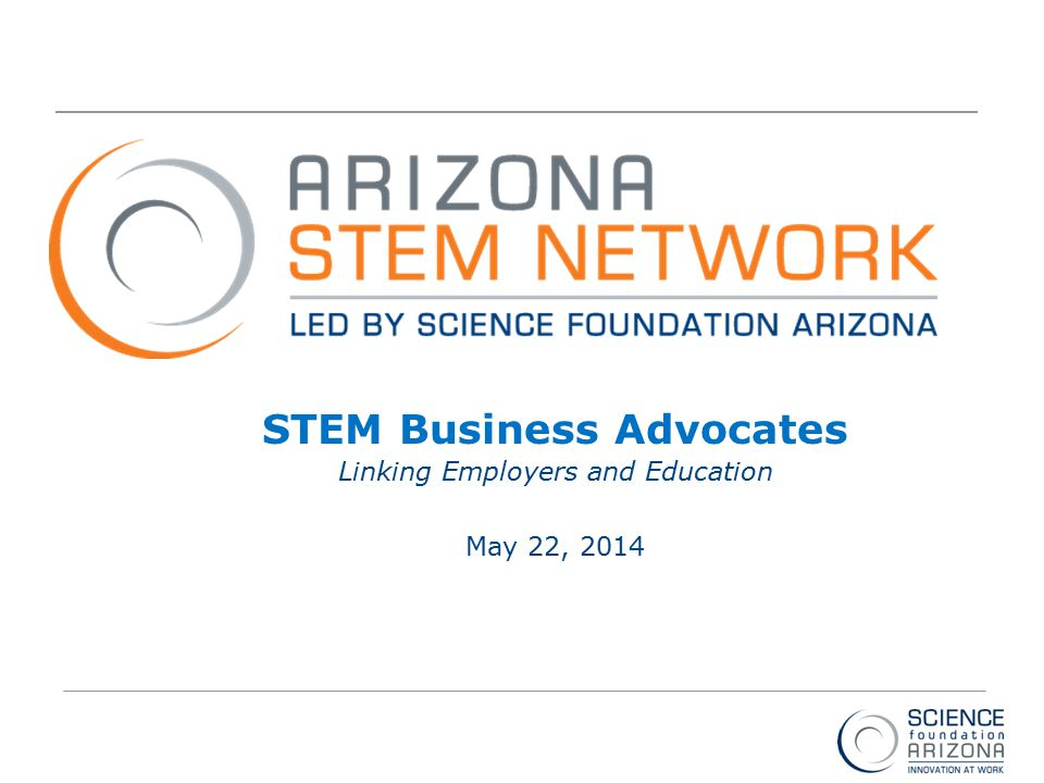Intel ® Education Programs STEM Business Advocates Linking Employers and Education May 22, 2014