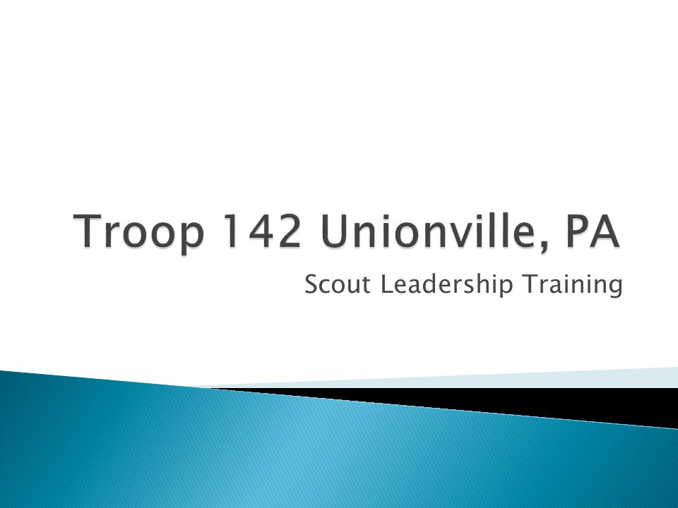 Scout Leadership Training