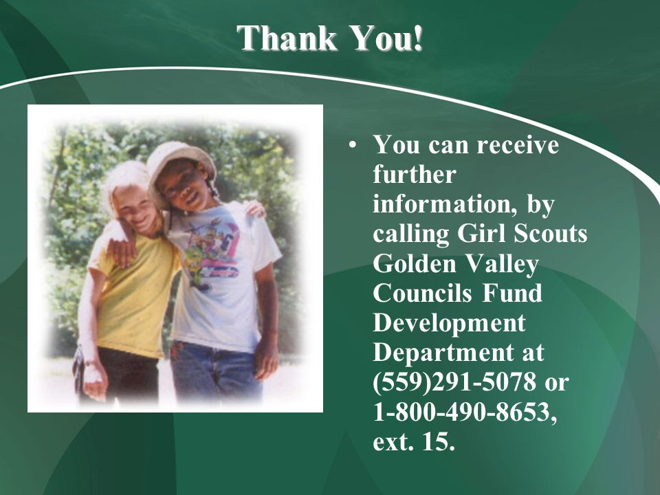 Support Girl Scouting.