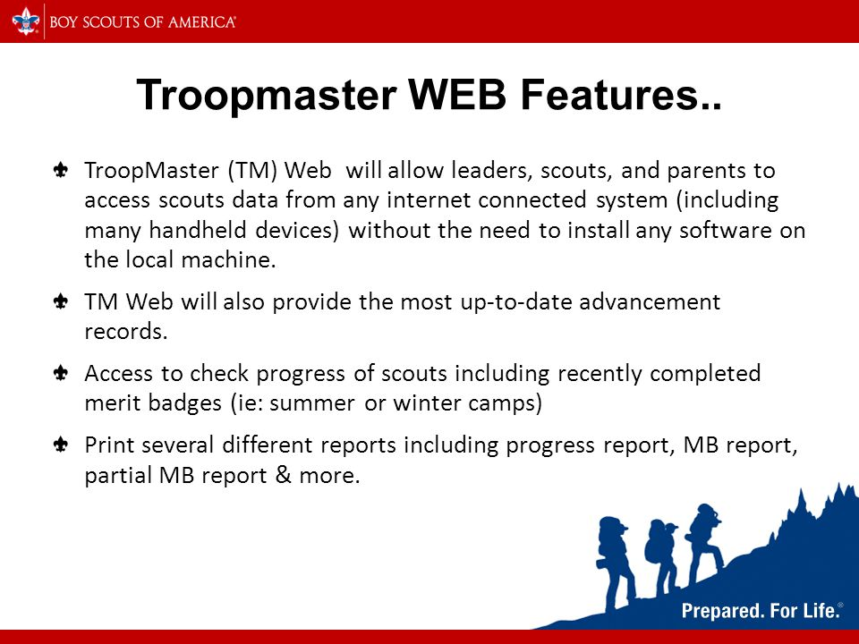 Troopmaster WEB Features..