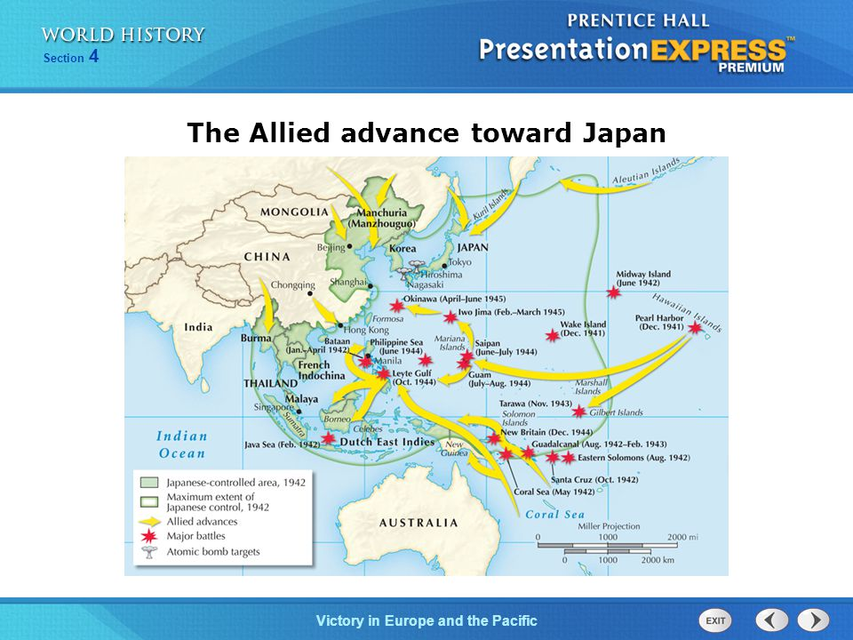 Victory in Europe and the Pacific Section 4 The Allied advance toward Japan
