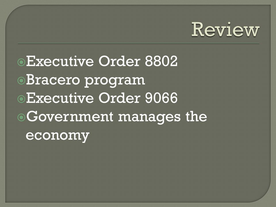 executive order 8802 important