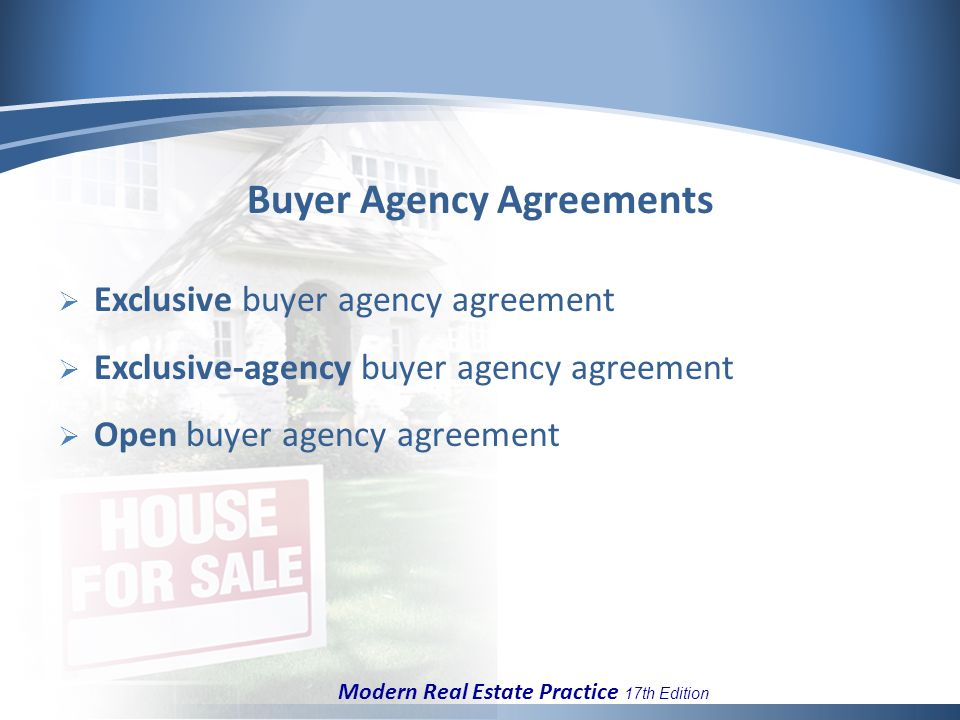 Chapter 6 Listing Agreements And Buyer Representation Ppt Download