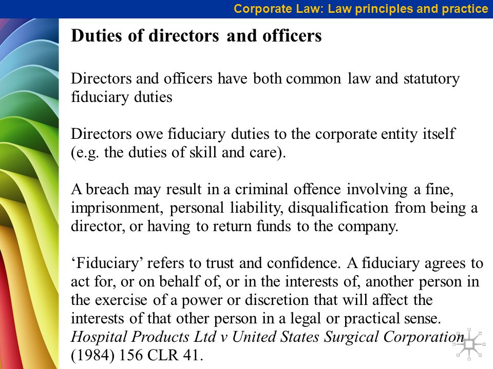 fiduciary duties of directors south africa