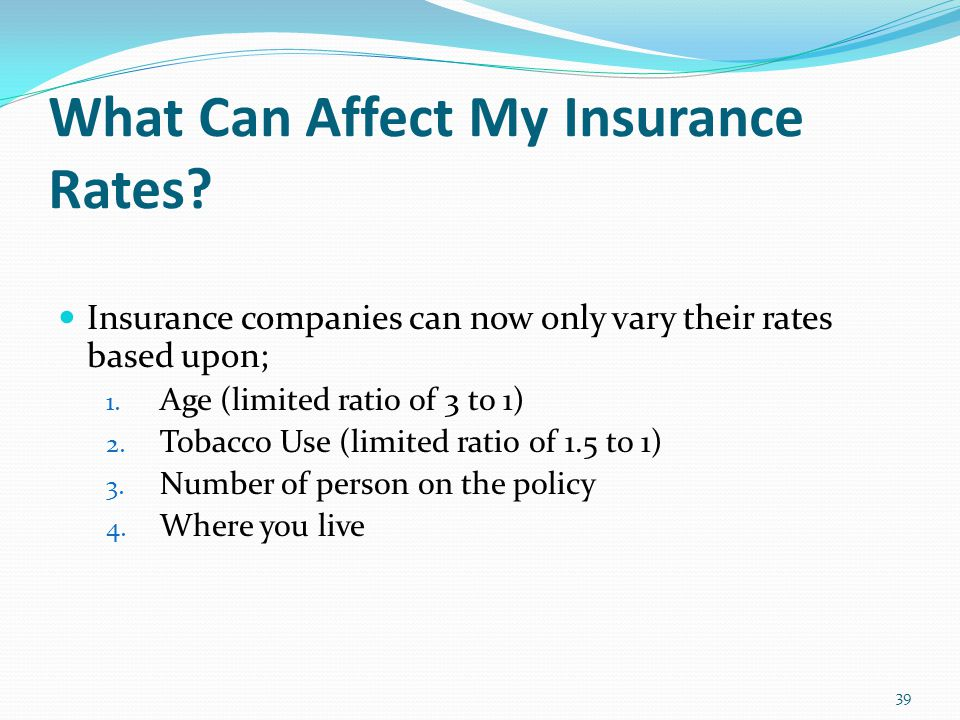 What Can Affect My Insurance Rates.