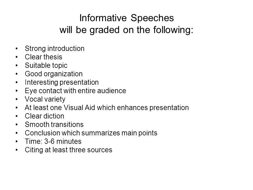 funny informative speech sample
