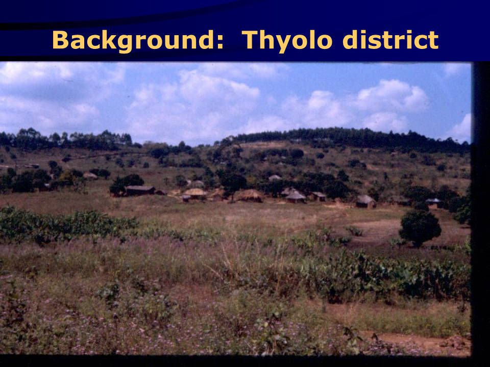 Background: Thyolo district